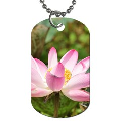 A Pink Lotus Dog Tag (two Sided)