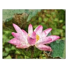 A Pink Lotus Jigsaw Puzzle (Rectangle)