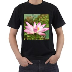 A Pink Lotus Mens' Two Sided T Shirt (black)