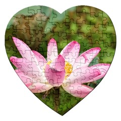 A Pink Lotus Jigsaw Puzzle (Heart)