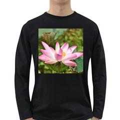 A Pink Lotus Mens' Long Sleeve T-shirt (Dark Colored)