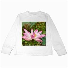 A Pink Lotus Kids Long Sleeve T-Shirt