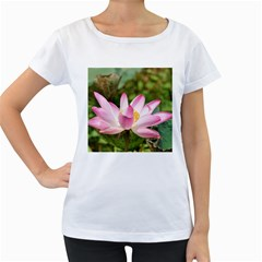 A Pink Lotus Womens' Maternity T-shirt (White)