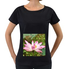 A Pink Lotus Womens' Maternity T-shirt (Black)