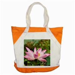 A Pink Lotus Accent Tote Bag
