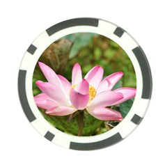 A Pink Lotus Poker Chip