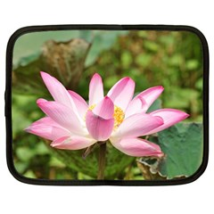 A Pink Lotus Netbook Case (Large)
