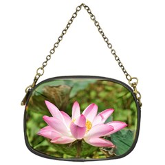 A Pink Lotus Chain Purse (One Side)