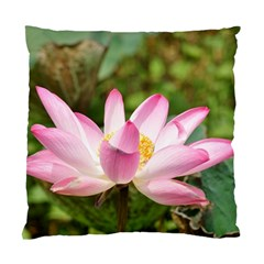 A Pink Lotus Cushion Case (one Side)