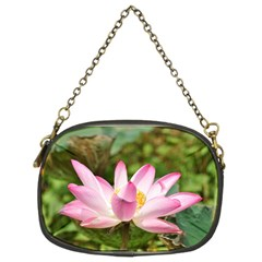 A Pink Lotus Chain Purse (Two Side)