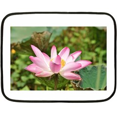 A Pink Lotus Mini Fleece Blanket (Two-sided)