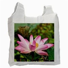 A Pink Lotus Recycle Bag (Two Sides)