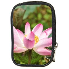 A Pink Lotus Compact Camera Leather Case
