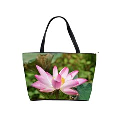 A Pink Lotus Large Shoulder Bag