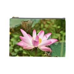 A Pink Lotus Cosmetic Bag (large)
