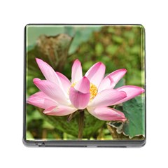 A Pink Lotus Memory Card Reader with Storage (Square)