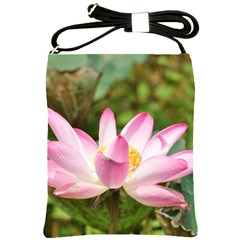 A Pink Lotus Shoulder Sling Bag