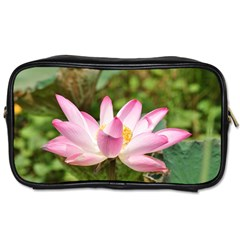 A Pink Lotus Travel Toiletry Bag (two Sides)