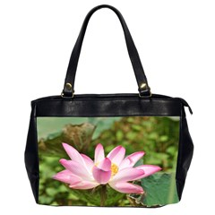 A Pink Lotus Oversize Office Handbag (two Sides)