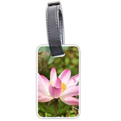 A Pink Lotus Luggage Tag (two Sides)
