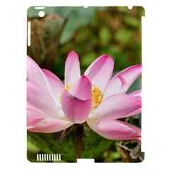 A Pink Lotus Apple iPad 3/4 Hardshell Case (Compatible with Smart Cover)