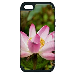 A Pink Lotus Apple iPhone 5 Hardshell Case (PC+Silicone)