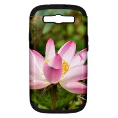 A Pink Lotus Samsung Galaxy S Iii Hardshell Case (pc+silicone)