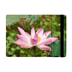 A Pink Lotus Apple Ipad Mini Flip Case