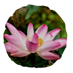 A Pink Lotus 18  Premium Round Cushion