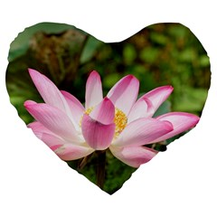 A Pink Lotus 19  Premium Heart Shape Cushion