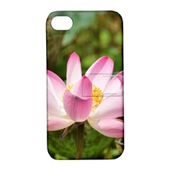 A Pink Lotus Apple iPhone 4/4S Hardshell Case with Stand