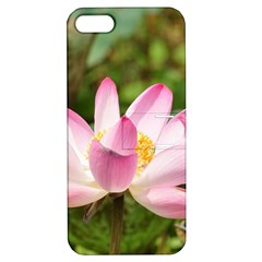 A Pink Lotus Apple iPhone 5 Hardshell Case with Stand