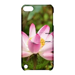 A Pink Lotus Apple iPod Touch 5 Hardshell Case with Stand