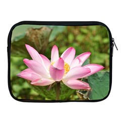 A Pink Lotus Apple iPad 2/3/4 Zipper Case