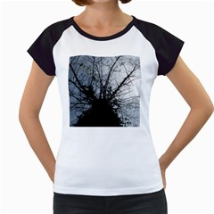 An Old Tree Women s Cap Sleeve T-Shirt (White)