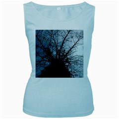An Old Tree Womens  Tank Top (Baby Blue)