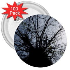 An Old Tree 3  Button (100 Pack)