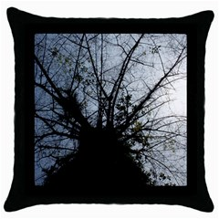 An Old Tree Black Throw Pillow Case