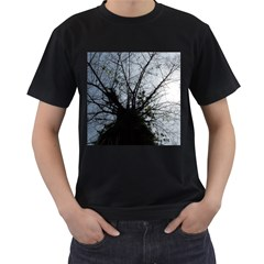 An Old Tree Mens' Two Sided T-shirt (Black)