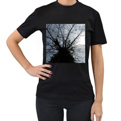 An Old Tree Womens' Two Sided T-shirt (Black)