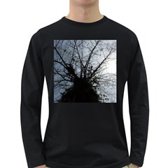 An Old Tree Mens' Long Sleeve T Shirt (dark Colored)