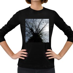 An Old Tree Womens' Long Sleeve T-shirt (Dark Colored)