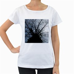 An Old Tree Womens' Maternity T Shirt (white)