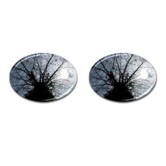 An Old Tree Cufflinks (Oval)