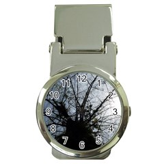 An Old Tree Money Clip with Watch