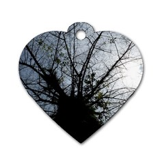 An Old Tree Dog Tag Heart (One Sided)