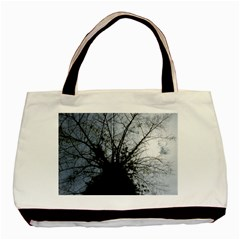 An Old Tree Twin Sided Black Tote Bag