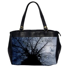 An Old Tree Oversize Office Handbag (One Side)