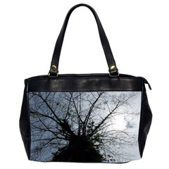 An Old Tree Oversize Office Handbag (two Sides)