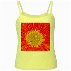 A Red Flower Yellow Spaghetti Tank